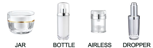 COMPLETE TYPE OF PACKAGING (JAR, BOTTLE, AIRLESS, DROPPER)